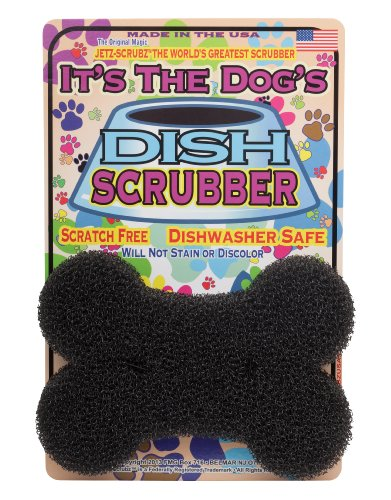 (JetzScrubz Pet Dish and Bowl Scrubber Sponge, Dog, Made in The USA, Set of 1)