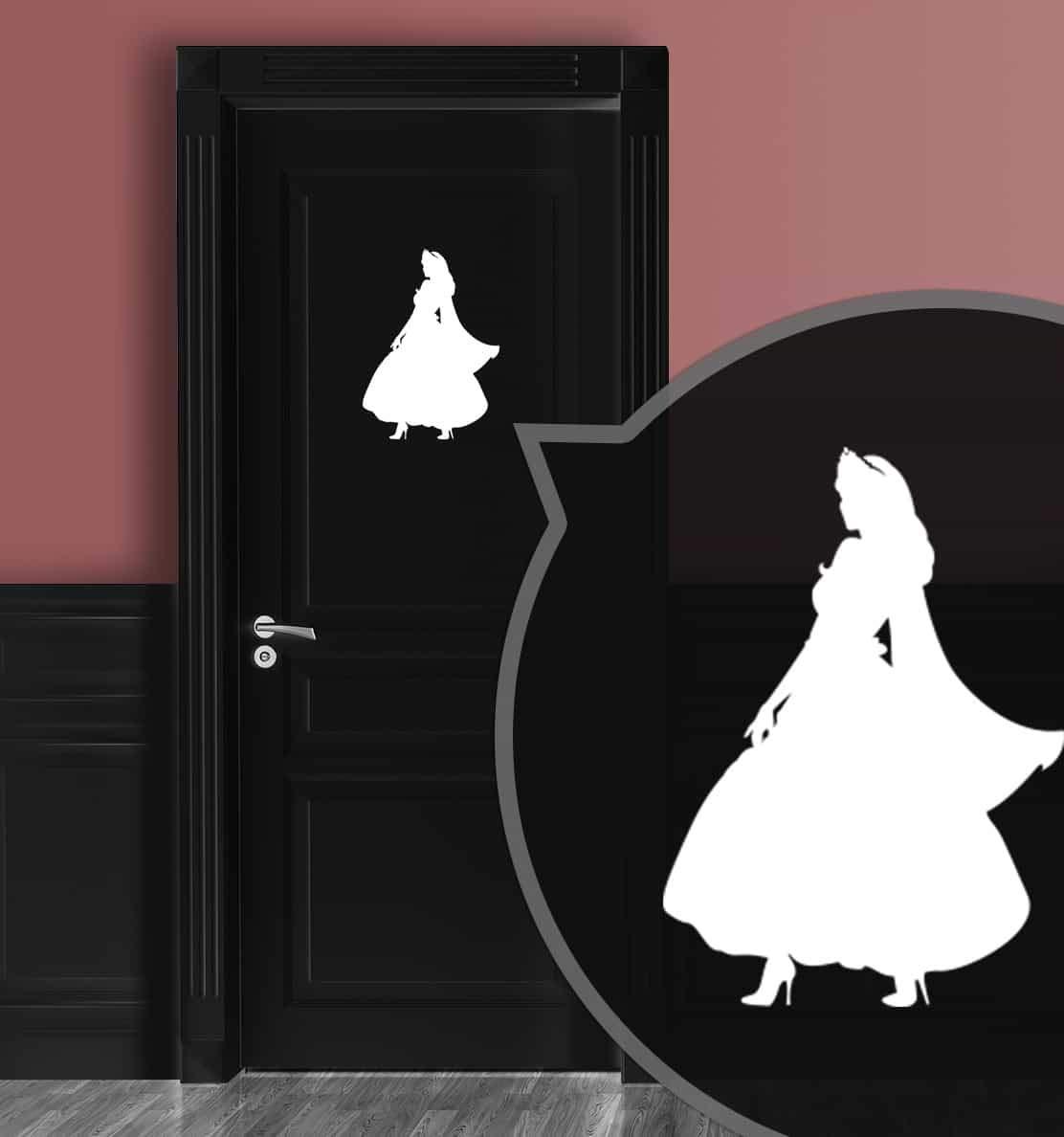 Zeroos WC-Schild Pink Toilettenschild Prinzessin No L 2 Damen