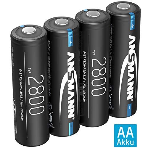 ANSMANN Akku AA Typ 2800mAh NiMH 1,2V – Mignon AA Batterien wiederaufladbar, hohe Kapazität ideal für hohen Strombedarf…