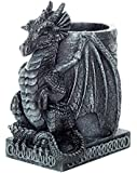 4.5 Inch Medieval Dragon Statue Figurine Desk Top Utility Holder