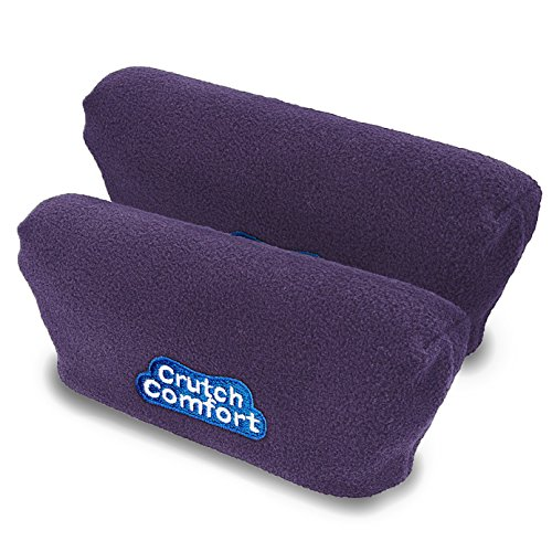 Universal Crutch Underarm Pad Covers - Luxurious Soft Fleece with Sculpted Memory Foam Cores (Playful Purple) ()