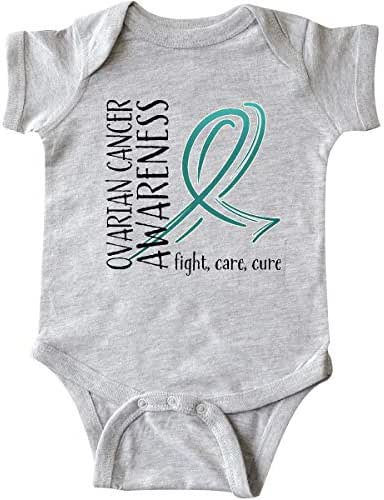 inktastic Ovarian Cancer Awareness- Fight, Care, Cure Infant Creeper