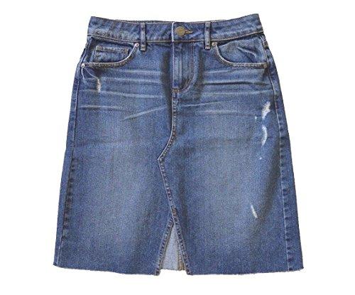 LOFT Women's Distressed Denim A-Line Skirt (6)