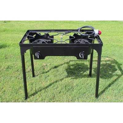 CONCORD Double Burner Outdoor Stand Stove Cooker...