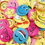 Wankko Mini Smiley Smile Face Button Pins,1.2 Inch Size - 72 Pack