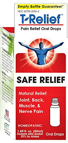 T-Relief Pain Relief Oral Drops Homeopathic Formula with Arnica for Minor Joint Pain, Back Pain, Muscle Pain and Nerve Pain - 1.69 Ounce