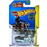 Hot Wheels, 2015 HW Off-Road, Harley-Davidson Fat Boy Motorcycle [Black] Die-Cast Vehicle #82/250 by MATTEL