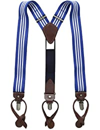 Tommy Hilfiger mens Ribbon Striped Suspenders