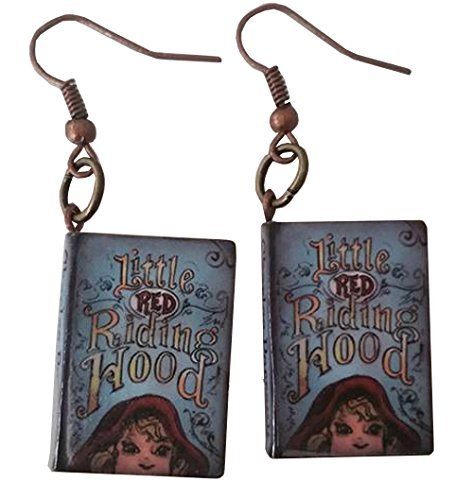 Little Red Riding Hood Story Book Dangle Earrings