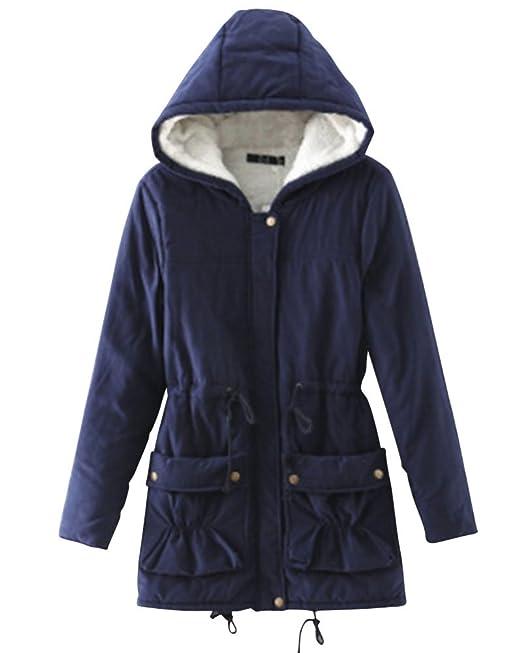 Mujer Espesar Abrigo Largo Parka Casual Con Capucha Chaquetas Jacket: Amazon.es: Ropa y accesorios