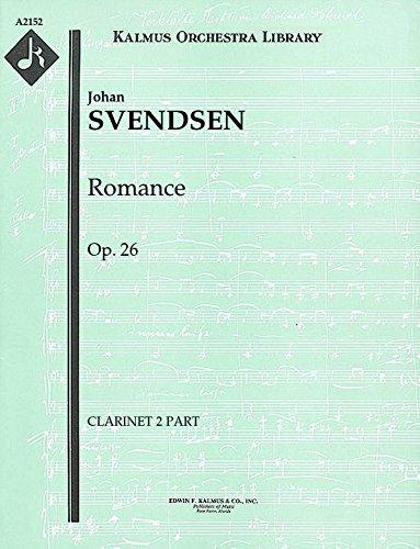 Romance, Op.26: Clarinet 2 part (Qty 4) [A2152]