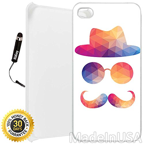Chaps Custom (Custom iPhone 4/4S Case (Chap) Edge-to-Edge Plastic White Cover Ultra Slim | Lightweight | Includes Screen Protector and Stylus Pen by Innosub)