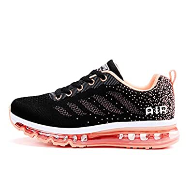 Running Shoes Sneakers for Women Fashion Sports Air Cushion Athletic Shoes Trainer Shoe (Women US 5.5 B(M), Black Orange)