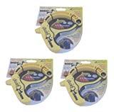 Mega Clamp EXTRA / VERY LARGE Cable / Hose / Rope Clamp, Yellow (Set / Pack of 3)