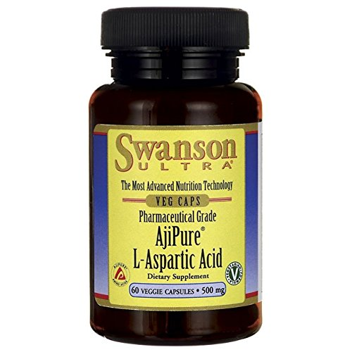 Swanson Amino Acid L-Aspartic Acid 500 Milligrams 60 Veg Capsules