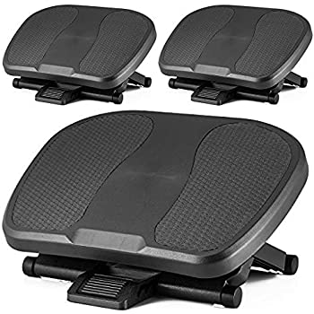 under desk foot rest black footstool office ergonomic footrest adjustable angle. Black Bedroom Furniture Sets. Home Design Ideas