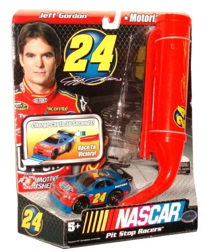 Jeff Gordon Speedway - NASCAR Pit Stop Racers Motorized Car with Charger for Ultimate Speedway Track Set #24 - Jeff Gordon (Track Set Sold Separately)