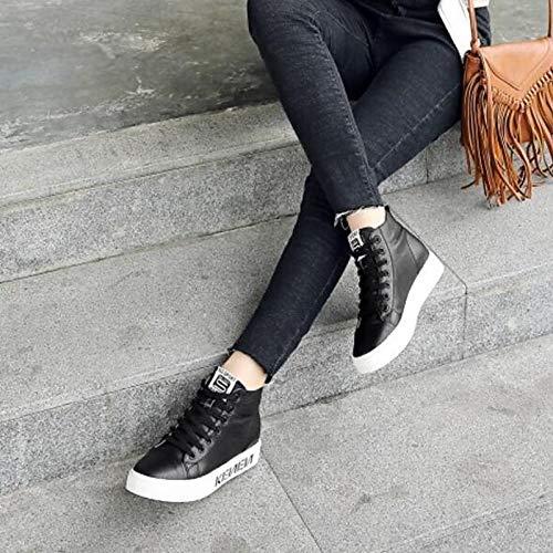 Beige Punta chiusa Tacco Estate Nero piatto da Beige pelle Sneakers Scarpe in Nappa Primavera Comfort donna ZHZNVX aB7wUO