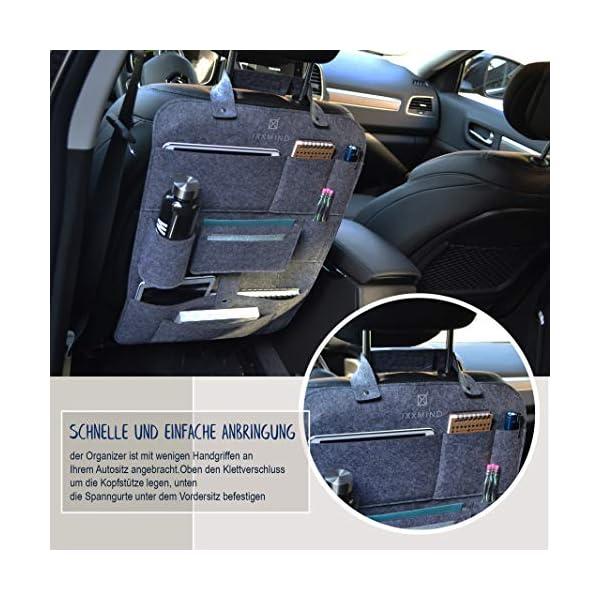 51KEtyro2KL IXXMIND® auto organizer, Wohnmobil Zubehör, autositzschoner, rückenlehnenschutz auto kinder, rücksitztasche, hängeregal…
