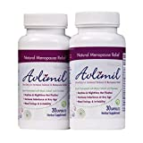 Avlimil Hormone Balance & Menopause | Mood Swing Support, Ease Hot Flashes, Calm Night Sweats with Isoflavones, Black Cohosh, Red Raspbery, Valerian, Sage, Cayenne and more - 60 Capsules (2 Months)