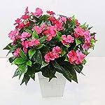 Lopkey-7-Branches-Artificial-Impatiens-Bouquet-Flower-Patio-Lawn-Garden-Wedding-Photo-Decor-2PcsPink
