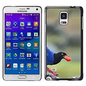 TopCaseStore / la caja del caucho duro de la cubierta de protección de la piel - Beak Berry Nature Blue - Samsung Galaxy Note 4 SM-N910F SM-N910K SM-N910C SM-N910W8 SM-N910U SM-N910