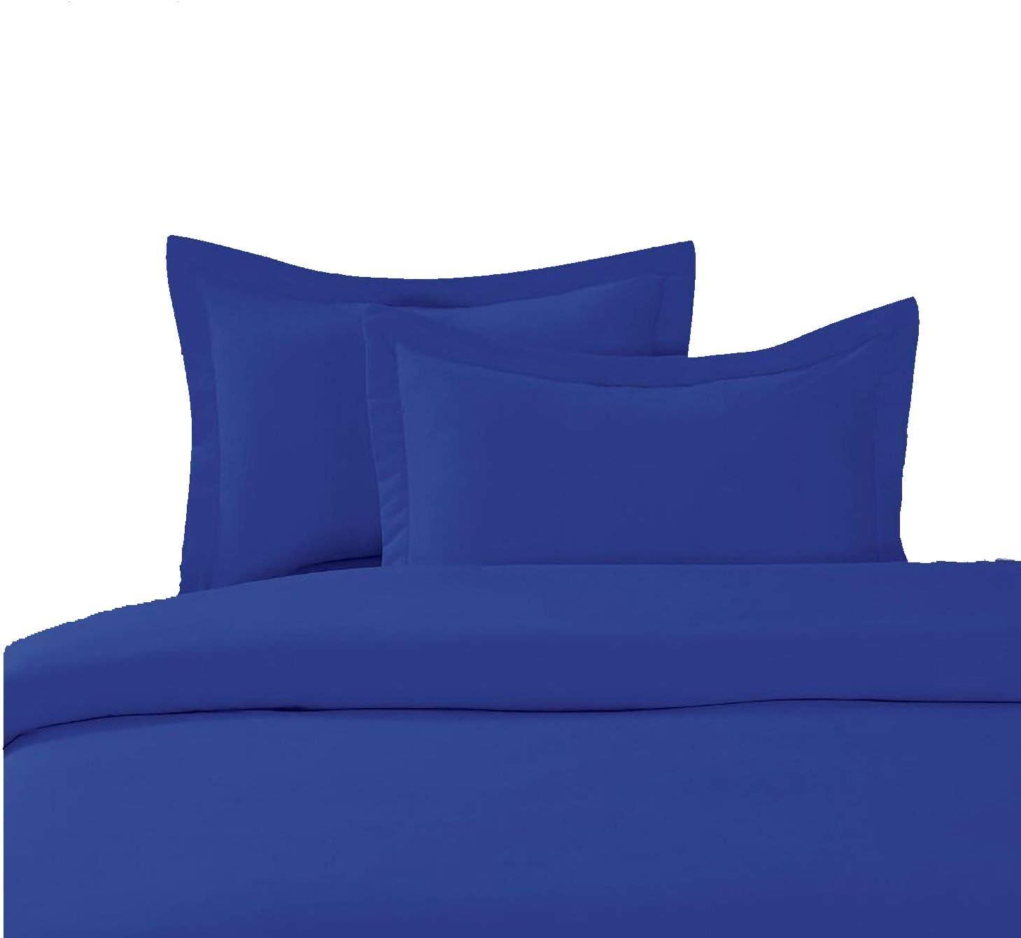 1 Piece Duvet Cover Premium Quality Egyptian Cotton 600 Thread Count Long Staple-Sateen Solid Duvet-Queen Size (Royal Blue) 51KEvQ3-ytL