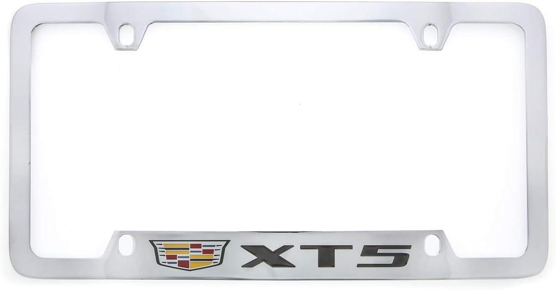 Cadillac XT5 Zinc License Plate Frame with Glossy Black Finish Baronlfi 4 Hole