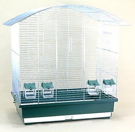 XXL pájaro jaula Diamante Verde Cromo (No ungesunde rejilla color ...