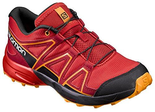 Salomon Speedcross J, Zapatillas de Trail Running Unisex Niños Rojo (Fiery Red/Black/Bright Marigold)