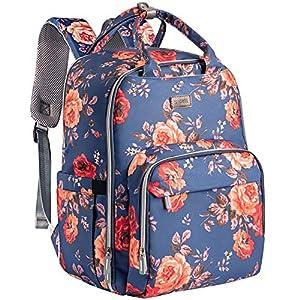 Diaper Bag Backpack, Kaome Diaper Bags for Baby Girl, Multifunction Large Capacity Maternity Baby Bag Waterproof and…