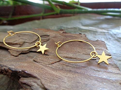 ✿ GOLDENE ZARTE STERN CREOLEN ✿ KLEINE OHRRINGE /& GOLD STERN