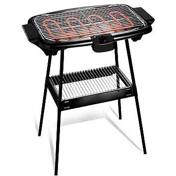 Cuisinier Deluxe Electric BBQ con pies de soporte y ...