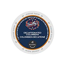 Timothy's Colombian Decaf K-Cup Pod, 24 Count