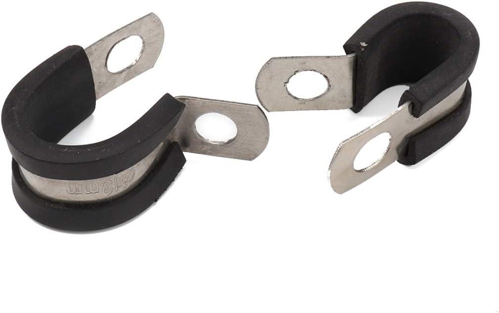Pinces Taille: 1//2 Pouce R/églable QIX 10 PCS Voiture En Caoutchouc Coussin Colliers De Fixation Pinces En Acier Inoxydable 13mm
