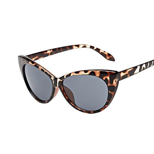 40cf945bc4a QingFan Women Men Summer Aviator Retro Cat Eye Glasses Unisex Fashion  Sunglasses Kids Metal Frame (