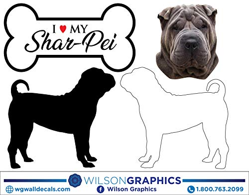 Shar-Pei - Dog Breed Decals (Set of 16) - Sizes in Description