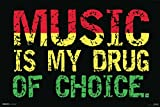 Music is My Drug of Choice Steez Poster 18x12