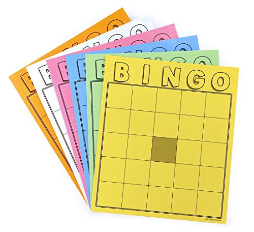 Hygloss Products Inc. - Blank Bingo Cards Assorted Colors