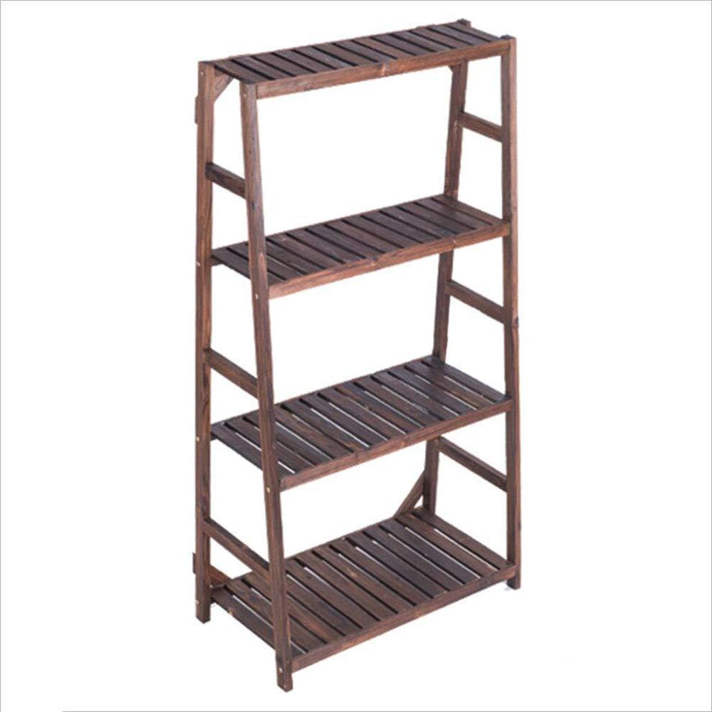 Haucalarm, Supporto per Piante da Balcone in Legno massello, Multistrato, Multistrato, per Interni e vasi di Fiori, Marronee, 4 Layers