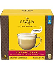 Gevalia Café at Home Creations Instant Cappuccino Coffee Kit (15 Count, 3 Boxes of 5)