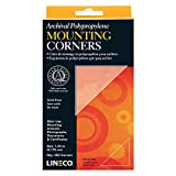 Lineco Self-Adhesive Polypropylene Mounting Corners - 1.25'' Clear (250/Pkg.)
