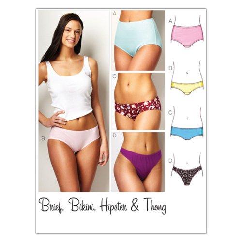 KWIK-SEW PATTERNS 3881 Misses Panties Brief, Bikini, Hipster and Thong Sizes XS-S-M-L-XL by KWIK-SEW PATTERNS