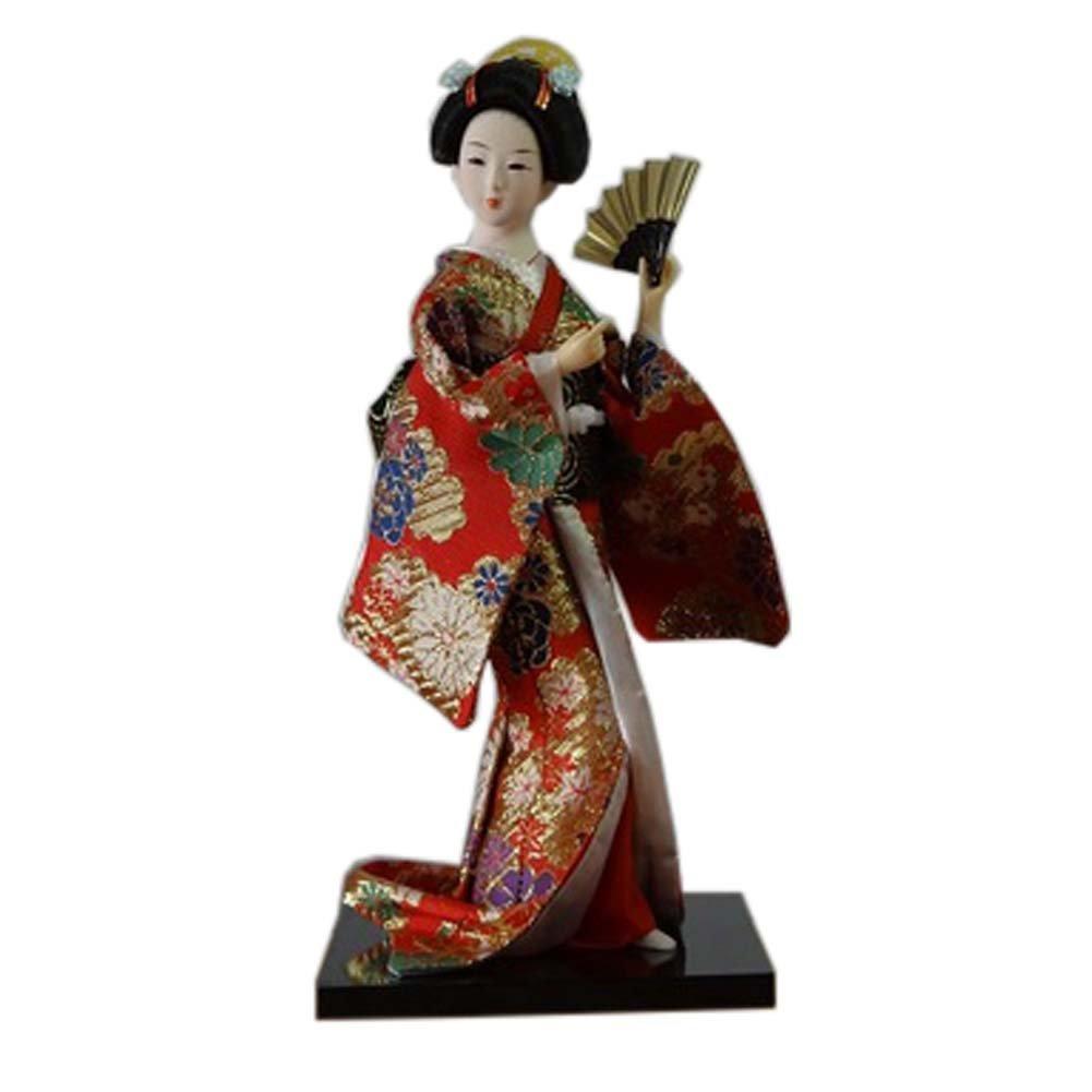 Geisha giapponese Kimono Art Doll Maiko Bambole Collezionismo regalo creativo, # 01 Fancy Pumpkin