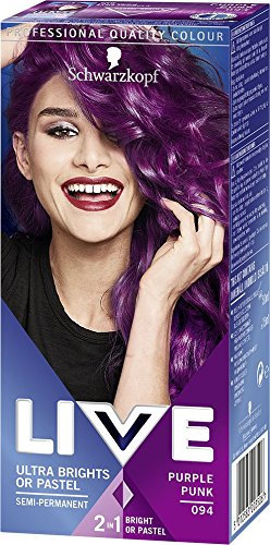 Schwarzkopf Live Ultra Bright or Pastel Colouration, Purple Punk Number 094...