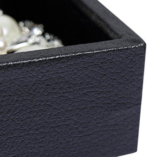 Valdler 24 Fäche Schmucktablett Velvet Stapelbar Ausstellungskasten für Schmuck Schmuckkasten Schmuckbox Schmuckschatulle Mode Display Schmuckaufwahrung -