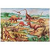 Melissa & Doug Dinosaurs Floor Puzzle, Extra-Thick Cardboard Construction, Beautiful Original Artwork, 48 Pieces, 2' x 3'