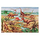 Melissa & Doug Dinosaurs Floor Puzzle, Extra-Thick Cardboard Construction, Beautiful Original Artwork, 48 Pieces, 2' x 3'