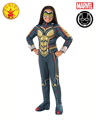 Rubie's Ant-Man Girl's Deluxe Wasp Costume, (Wasp Movie Costume)