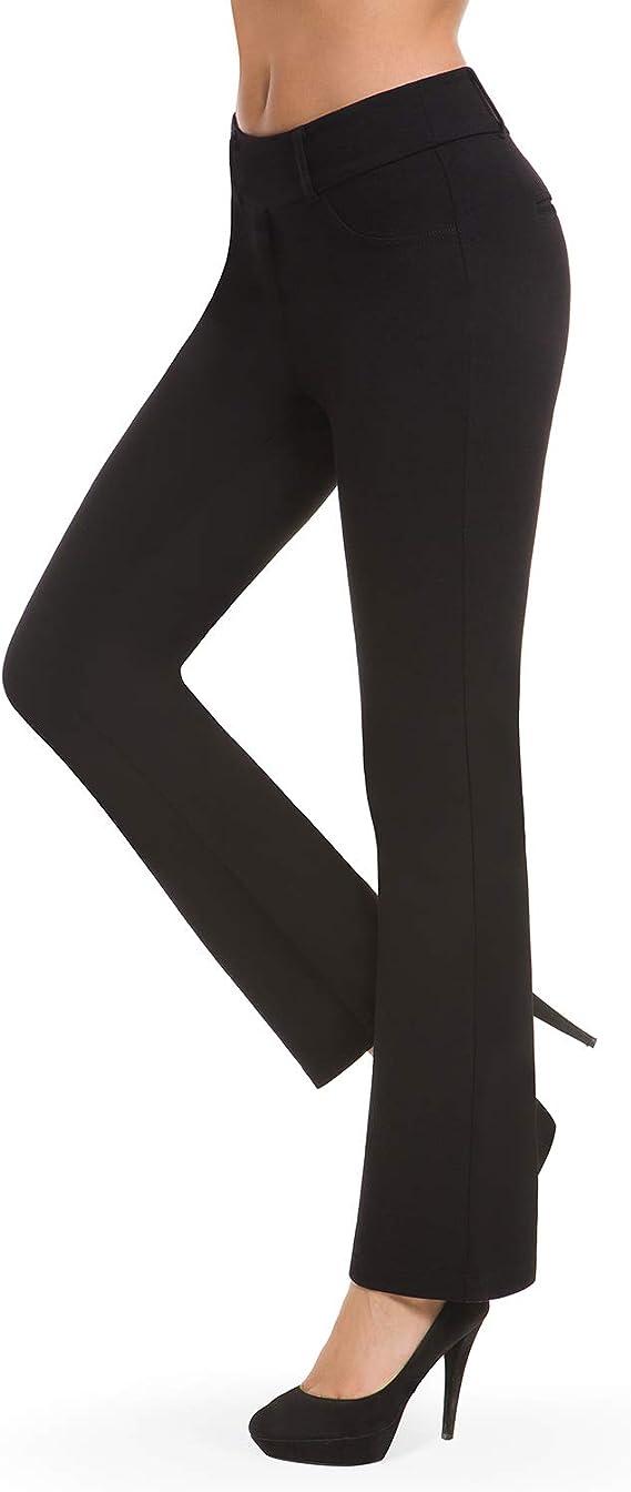 amazon pantalones mujer de vestir efecto vientre plano